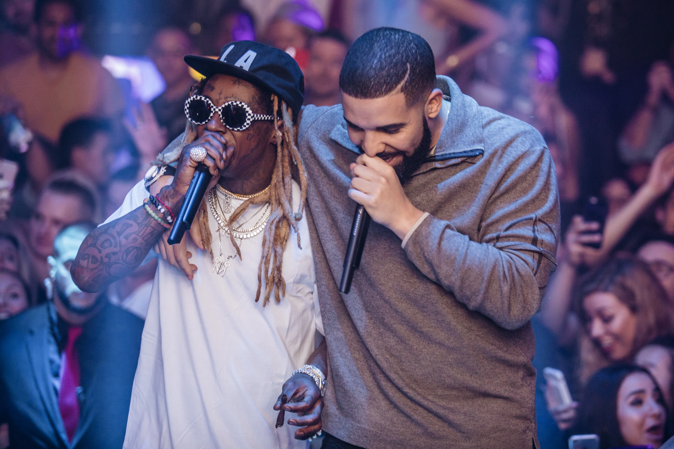 Lil Wayne and Drake Art Basel