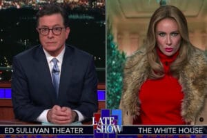 'Melania Trump' on 'The Late Show'