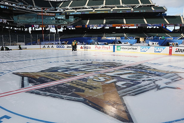 NHL Winter Classic rink buildout