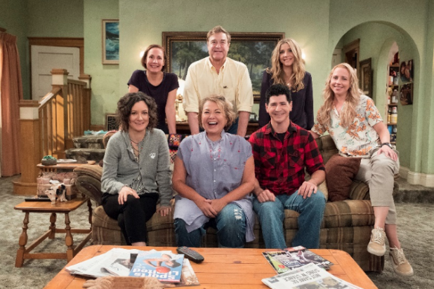 """Roseanne"" revival cast photo"
