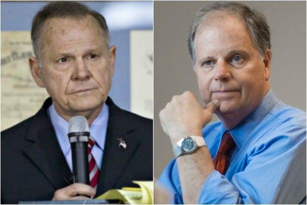Roy Moore Doug Jones Alabama Senate