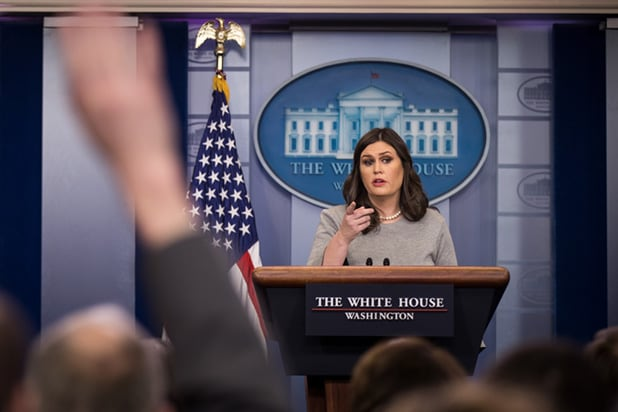 Press Secretary Sarah Sanders Holds Daily Briefing At White House