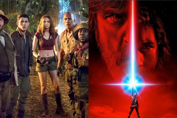 'Star Wars' and 'Jumanji' Closing Out 2017 With Box Office Race