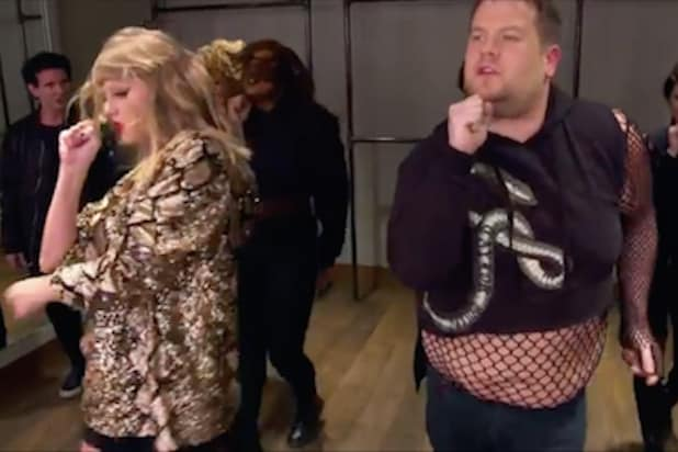 James Corden Helps Out Taylor Swift As Awkward Backup Dancer Video