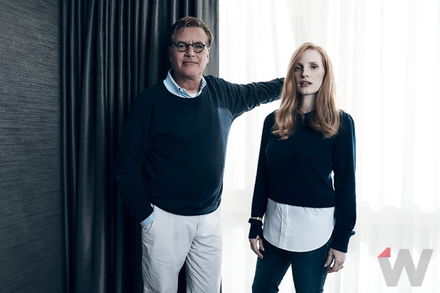 Jessica Chastain and Aaron Sorkin, Molly's Game