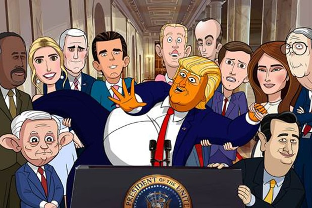 our cartoon president trump colbert showtime