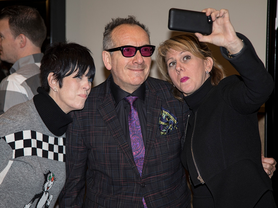 Best Original Song Contender Panel Diane Warren Elvis Costello and Sharon Waxman selfie