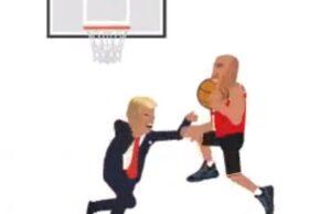 lavar ball dunks on donald trump