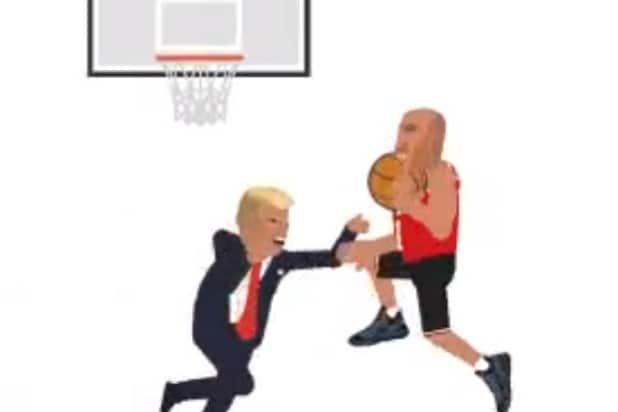 lavar ball dunks on donald trump