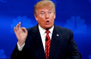 Donald Trump making OK Sign