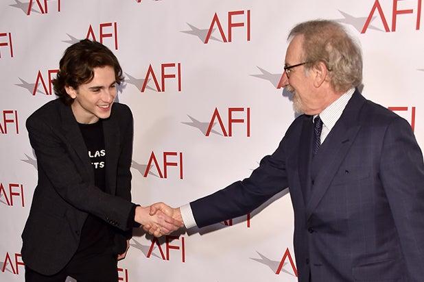 AFI Awards 2018 Timothée Chalamet Steven Spielberg