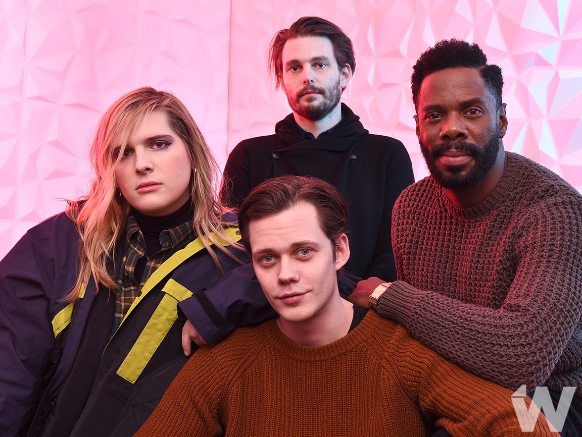 Hari Nef Sam Levinson, Coleman Damingo and Bill Skårsgard Assassination Nation