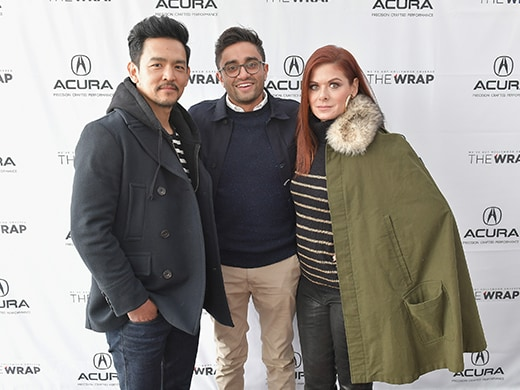 John Cho, director Aneesh Chaganty and actor Debra Messing of 'Search' a