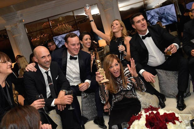 Allison Janney Golden Globes Wine