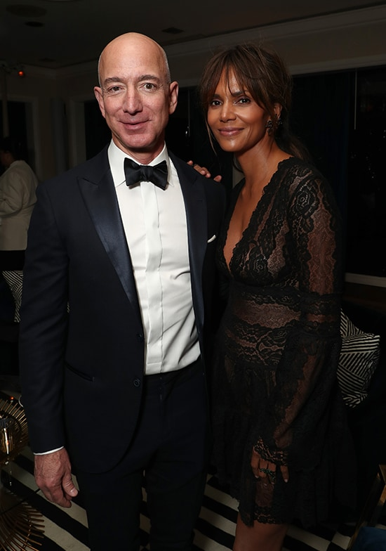 Amazon CEO Jeff Bezos, Halle Berry