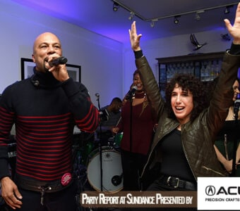 "Common performs on stage with director Jennifer Fox at the ""The Tale"" After Party on Saturday night, Jan. 20."