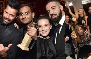 COVER - Golden Globes After Parties Drake Aziz Millie Bobby Brown