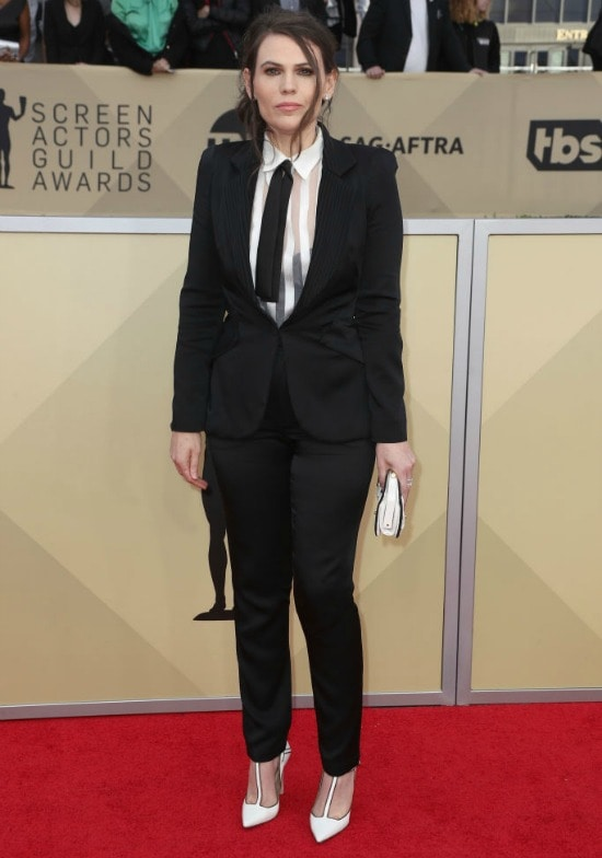 Clea DuVall sag awards red carpet