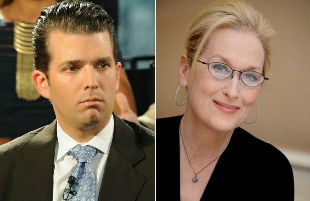Donald Trump Jr Accuses Meryl Streep Of Sickening Hypocrisy On
