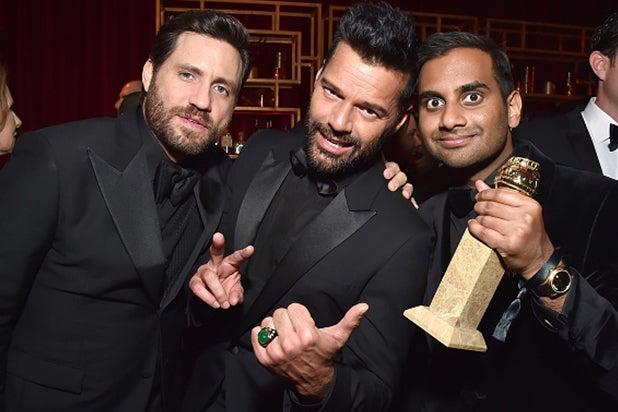 Edgar-Ramirez,-Ricky-Martin-and-Aziz-Ansari