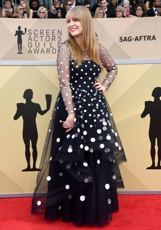 Emily Tarver sag awards red carpet