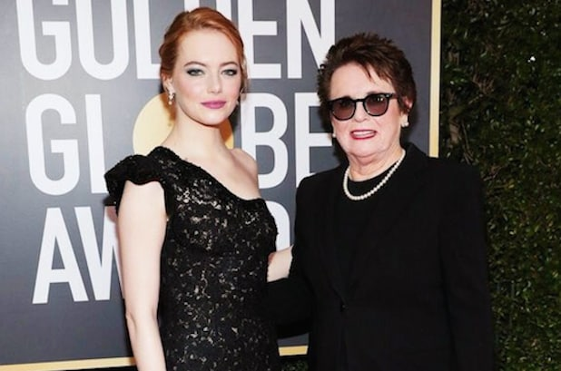 Emma Stone Billie Jean King Golden Globes