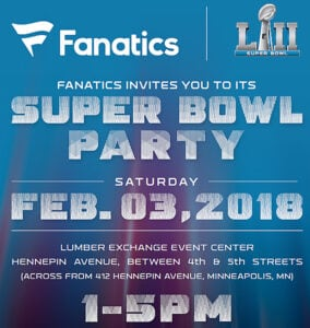 Fanatics Super Bowl LII Party