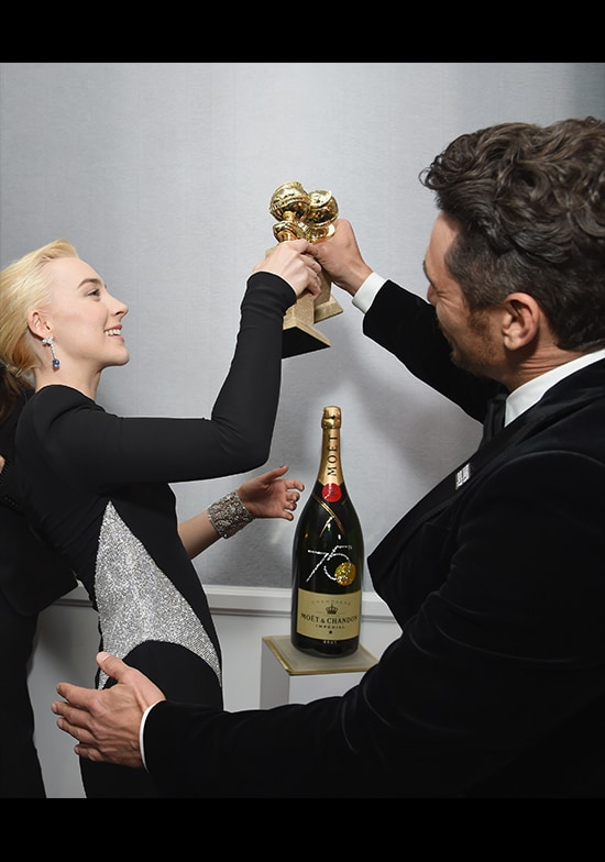 Franco Saoirse Ronan - Moet Toast
