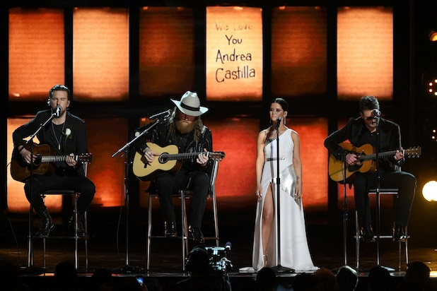 T.J. Osborne, John Osborne, Maren Morris, and Eric Church