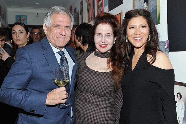 Leslie Moonves, W Magazine's Lynn Hirschberg, and Julie Chen attend W Magazine's Celebration of its 'Best Performances' Portfolio