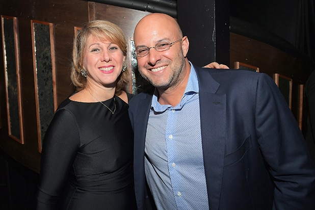 Sharon Waxman (L) and ICM Partners Managing Partner Chris Silbermann