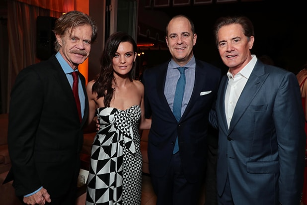 Nominees William H. Macy, Frankie Shaw, David Nevins, President and CEO, Showtime Networks, and Nominee Kyle MacLachlan at