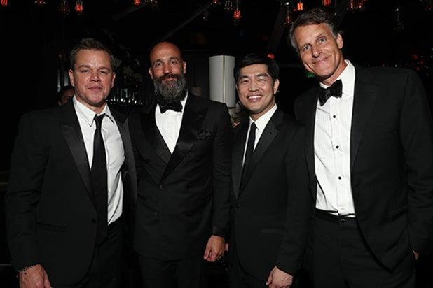 Matt Damon, Amazon Studios' Head of Motion Pictures Jason Ropell, Head of Amazon Studios Albert Cheng, Amazon Senior Vice President Jeff Blackburn