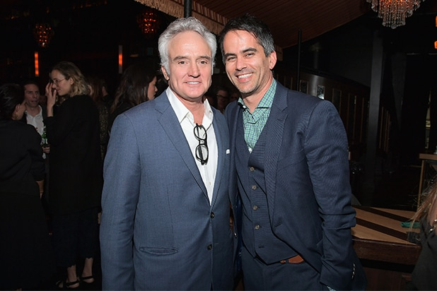 ICM Partners co-head of talent, Dar Rollins and Bradley Whitford