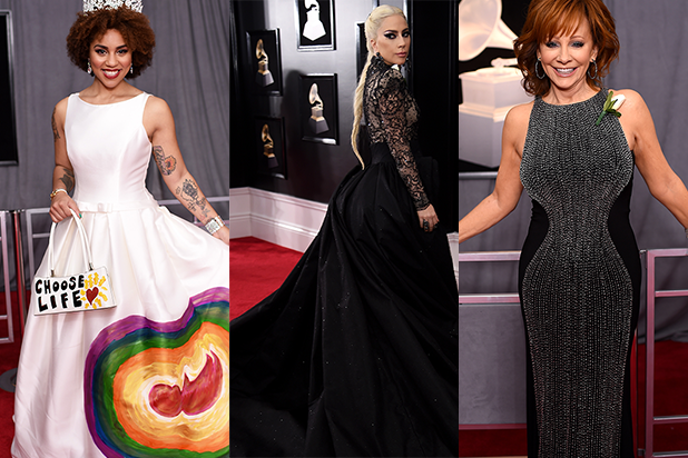 Grammys 2018 Arrivals: See The Crazy Styles, White Roses