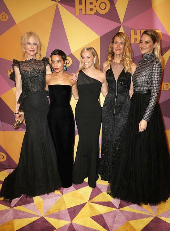 Nicole Kidman, Zoe Kravitz, Reese Witherspoon, Laura Dern and Shailene Woodley