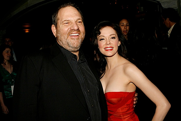 Harvey Weinstein and Rose McGowan Grindhouse Premiere 2007