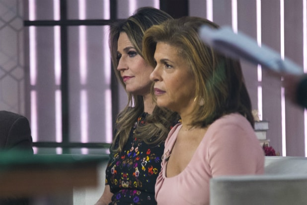 Hoda Kotb and Savannah Guthrie on 'Today' set