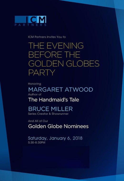 ICM Golden Globes Maragaret Atwood