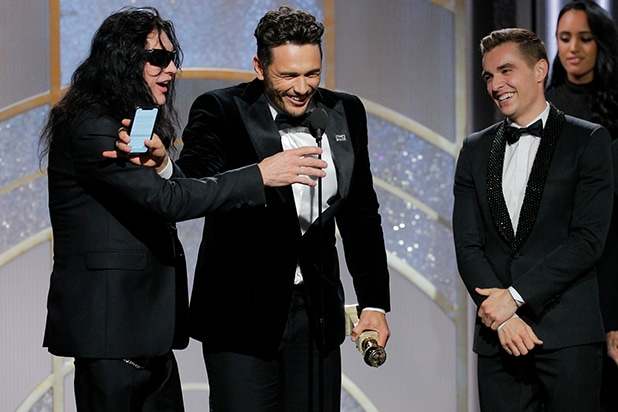 James Franco Blocks Tommy Wiseau From Finally Getting His Golden Globes Moment