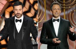 Jimmy Kimmel Oscars Seth Meyers Golden Globes