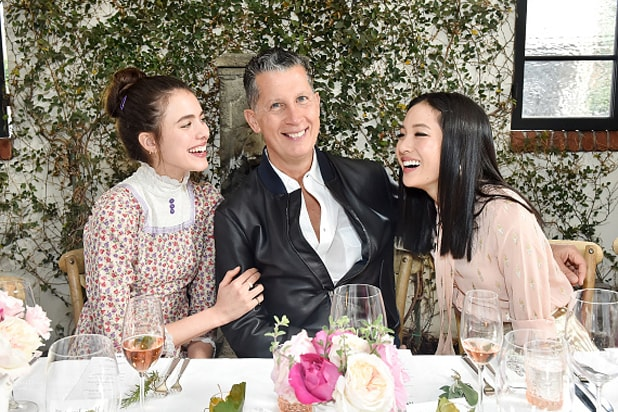 Margaret-Qualley,-Stefano-Tonchi-and-Constance-Wu