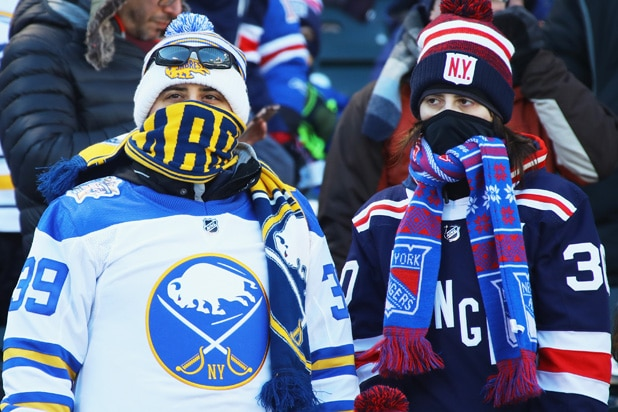 2018 Bridgestone NHL Winter Classic Bundled Up Fans