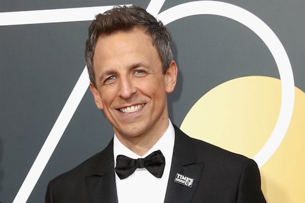 Seth Meyers at 2018 Golden Globes