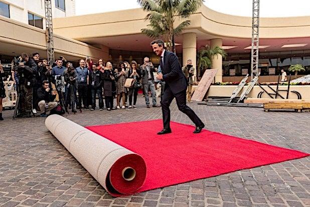 Seth Meyers Red Carpet Golden Globes