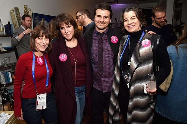 "Caren Spruch, Melanie Lynskey, Jason Ritter and Dawn Laguens attend the ""The Tale"" After Party at Sundance Film Festival 201"