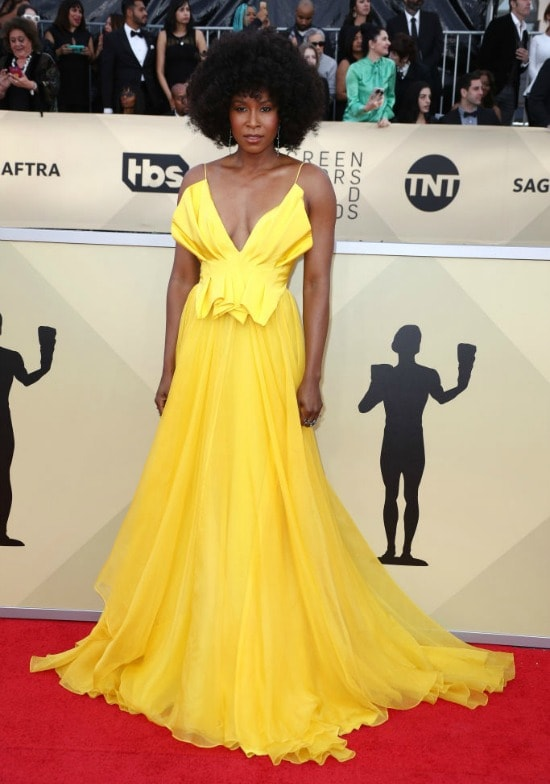 Sydelle Noel sag awards red carpet