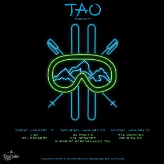 TAO Sundance 2018 - Invite
