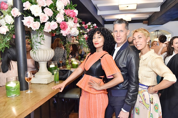 Tracee Ellis Ross, Stefano Tonchi and Mathilde Favier attend Lynn Hirschberg