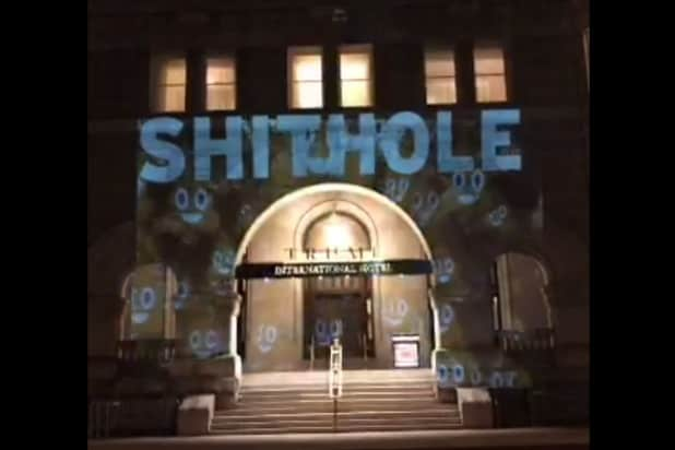 'Sh**hole' projected on Trump International hotel after controversial remark
